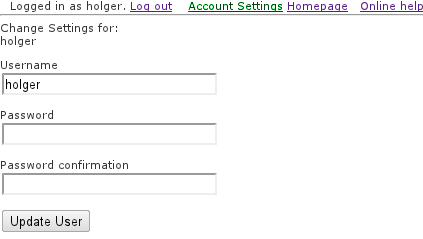 Change user-settings