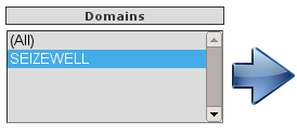 webSMBTA's second data view, showing the domains in the database