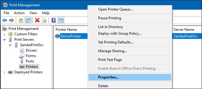 Setting up Automatic Printer Driver Downloads for Windows