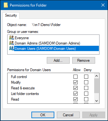 Setting up a Share Using Windows ACLs - SambaWiki