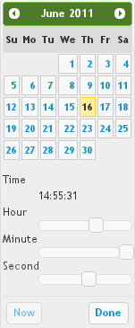 Calendar to config time modifiers